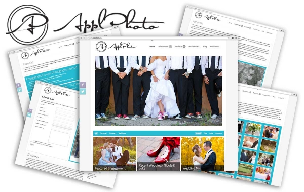 Appl photo website layout and design